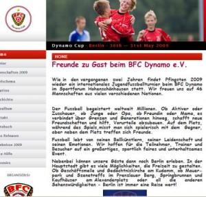 """Dynamo-Cup- """"Fussball"""""""