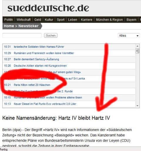 Dummheit grenzenlos - Süddeutsche
